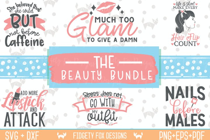Glam Beauty Bundle Svg Dxf Eps Pdf Png