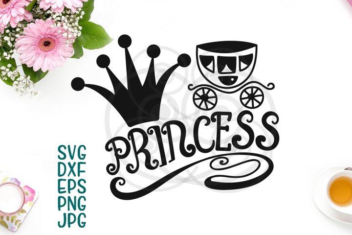 Princess Toddler vinyl cut design handdrawn svg dxf cut file