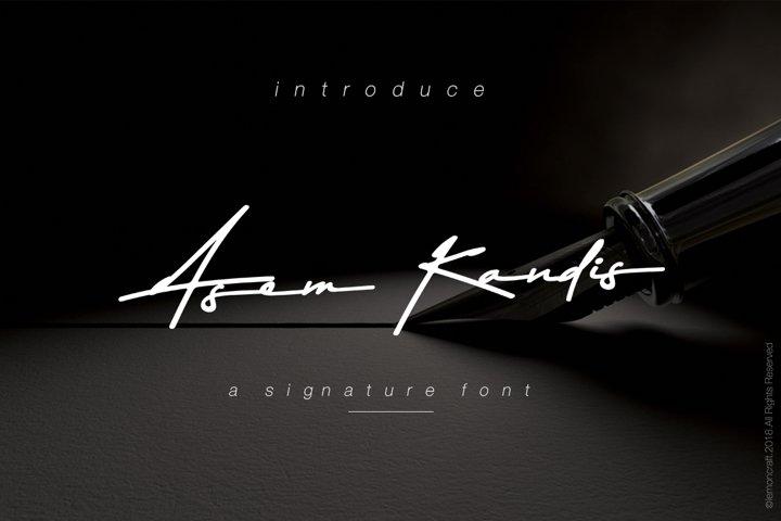 Asem Kandis - A Signature Font