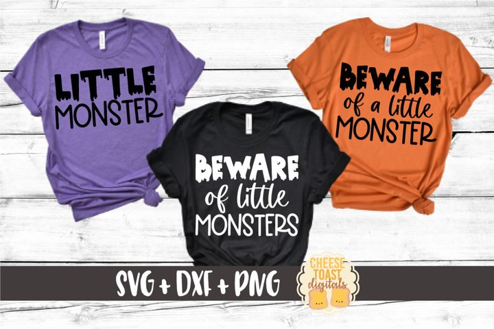 Mommy and Me Halloween SVG - Beware of Little Monsters