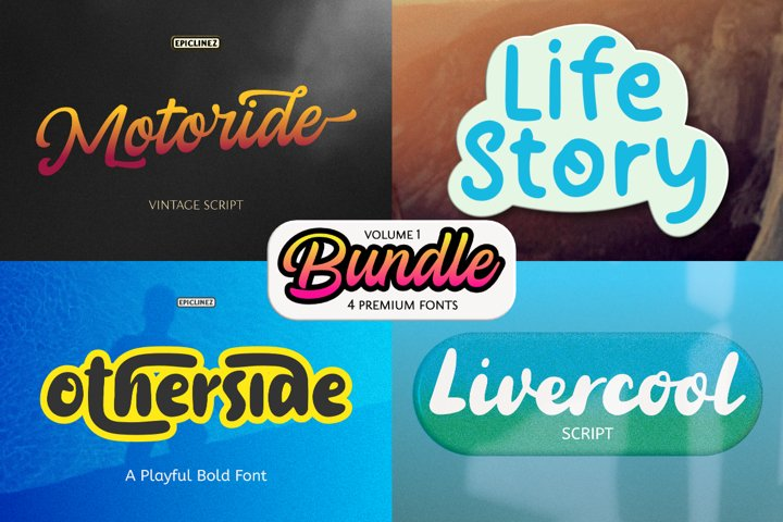 Epic Bundle Vol 1   4 Premium Fonts