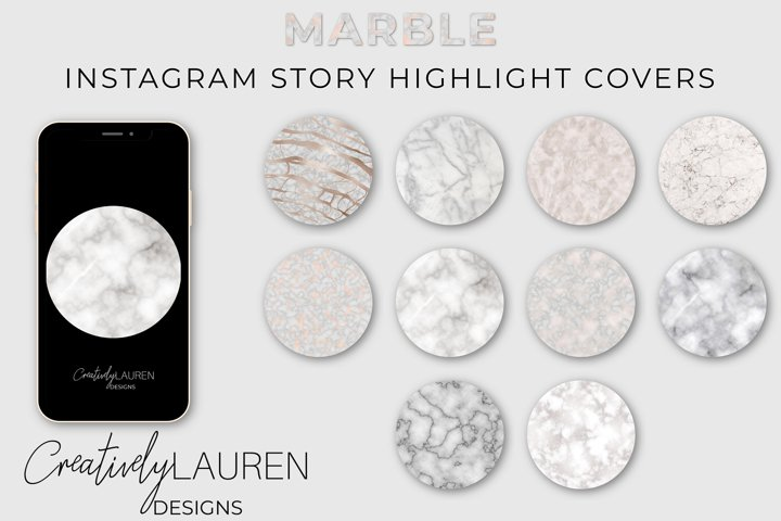 Marble Instagram Highlight Covers