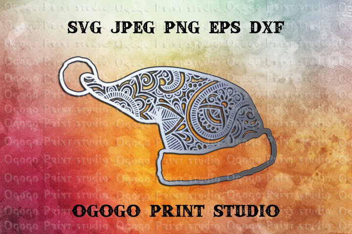 3D Layered Mandala SVG, Santa Hat Svg, Zentangle Svg