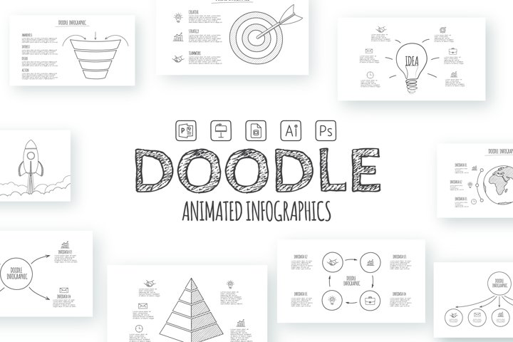 Doodle infographics presentation