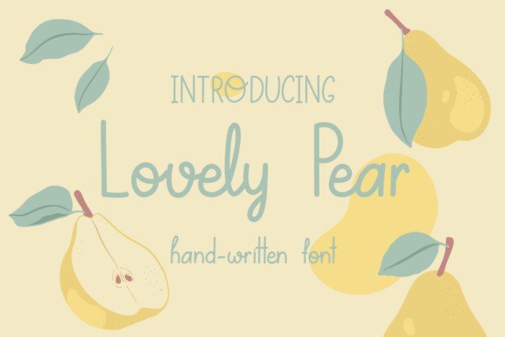 Lovely Pear | hand-written font