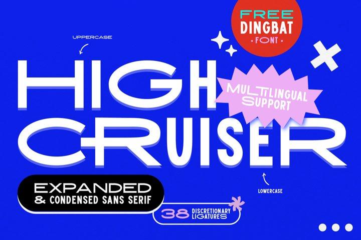 High Cruiser   Modern & Bold Sans