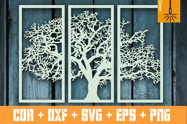 Tree Wall Hanging SVG, CNC file, Wall Panels, Room Decor