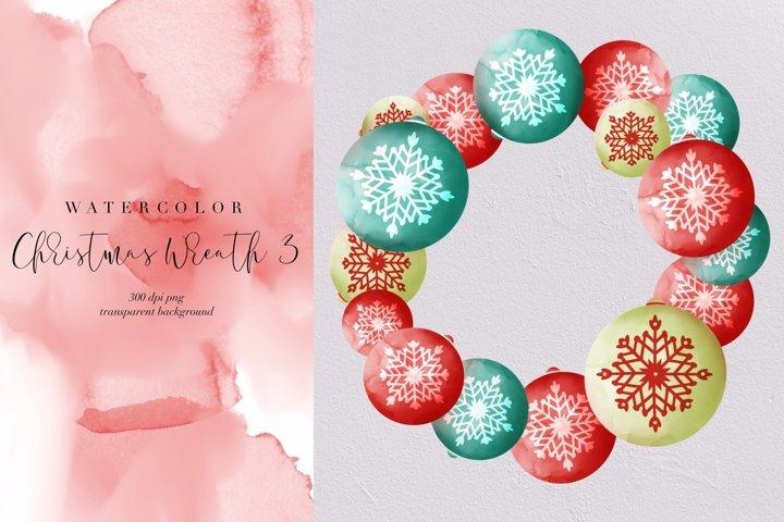 Watercolor Xmas wreath 3, Christmas decor transparent PNG