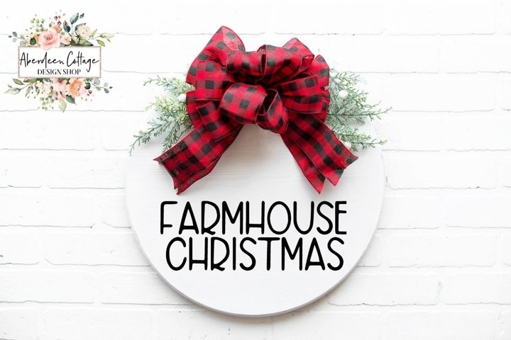 Farmhouse Christmas Round Sign - SVG Cut File