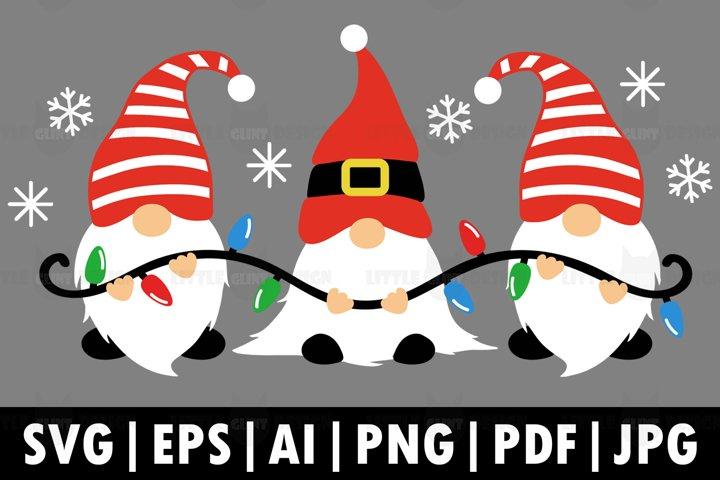 Christmas Gnomes PNG, christmas lights Svg, Merry Christmas