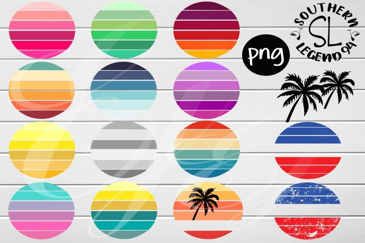 14 round back ground circles png Sublimation print