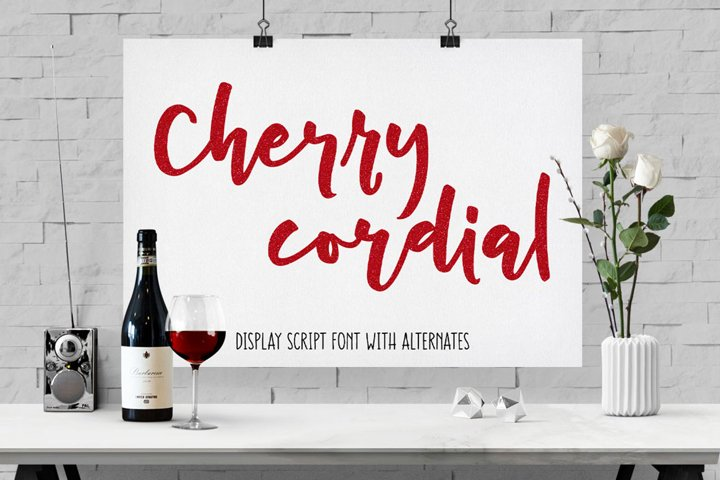 Cherry Cordial: script display font - Free Font of The Week Font