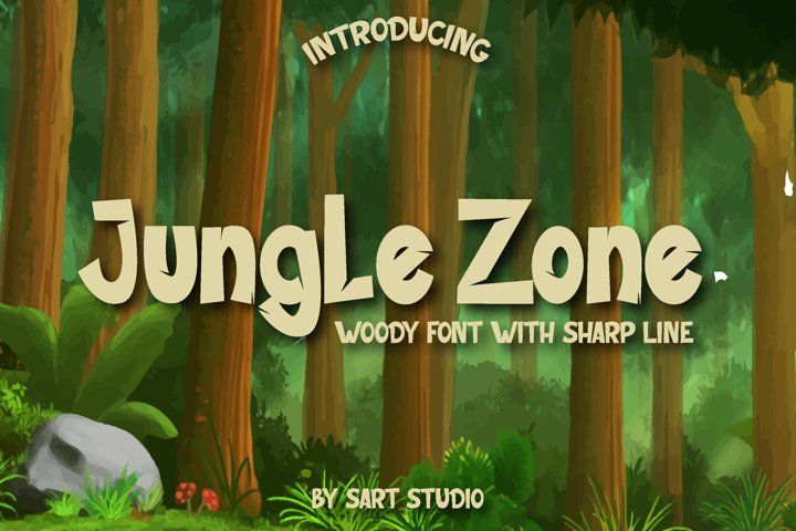 Jungle Zone - Woody Display Typeface
