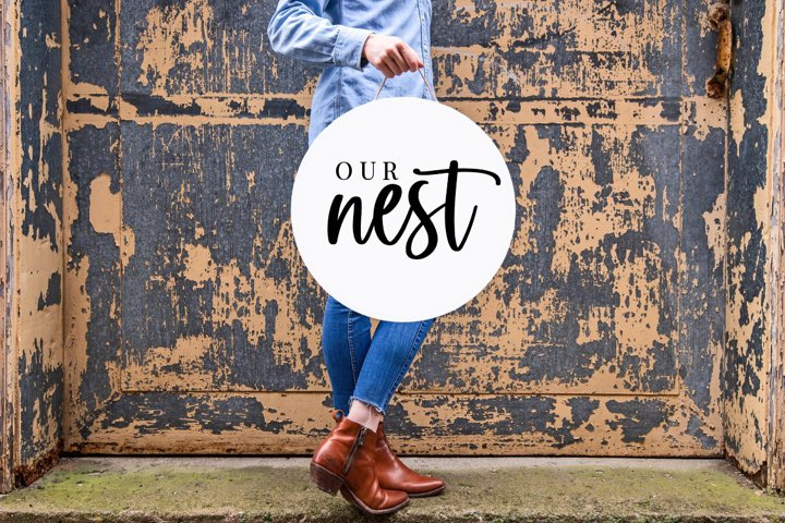 Our Nest, Home Sign, Farmhouse Sign, Living Room Cut Files