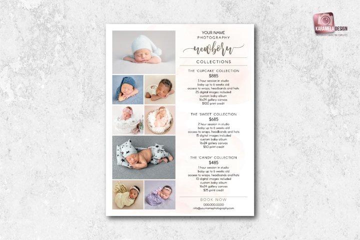 Newborn Photography Pricing Template