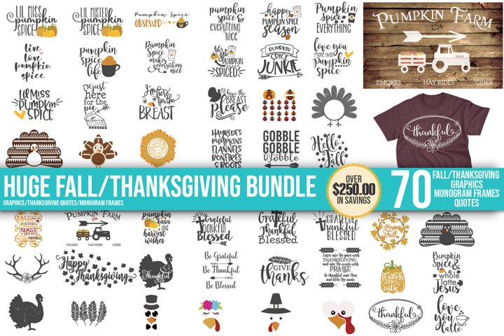 Fall, Pumpkin, Halloween, SVG, PNG, Thanksgiving Bundle, example