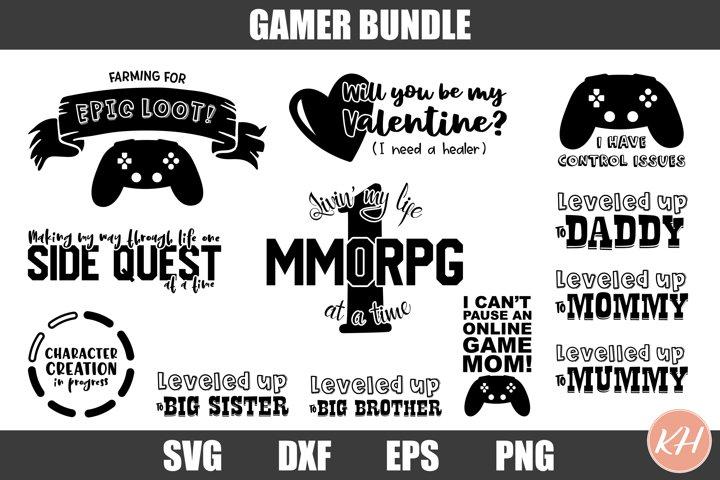 Gamer SVG Bundle Gaming SVG Bundle
