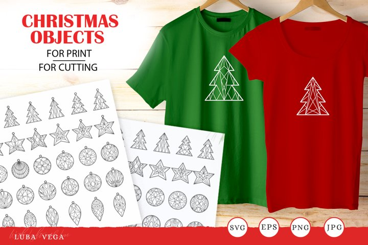 Merry Christmas objects | Svg Files For Cricut