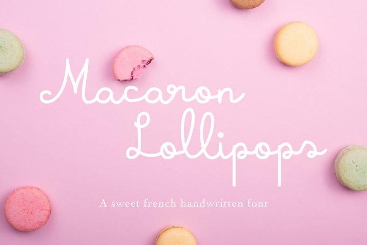 Macaron Lollipops