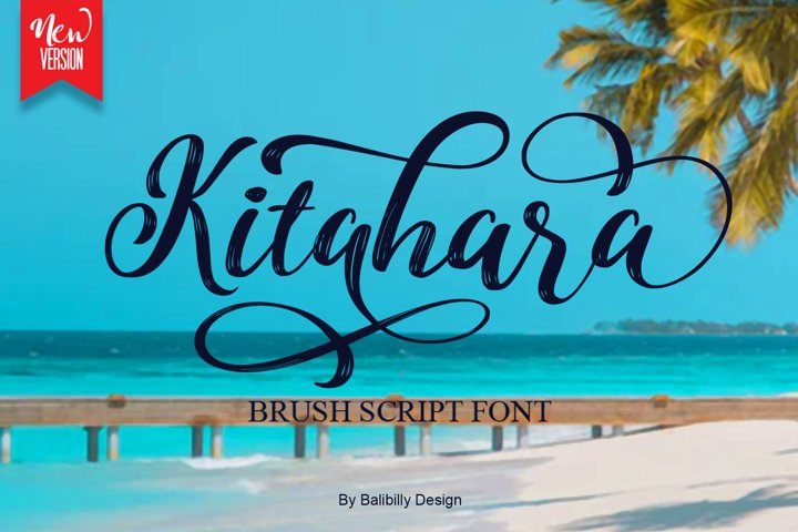 Kitahara - Handwriting Brush font