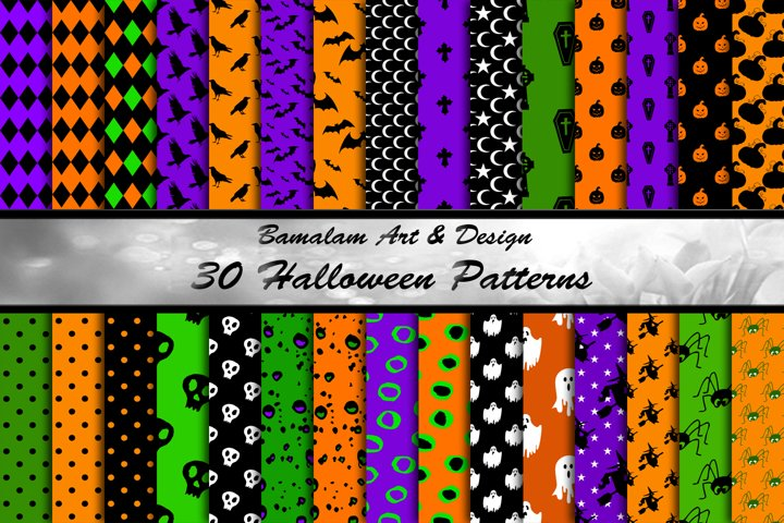 30 Halloween Patterned Backgrounds