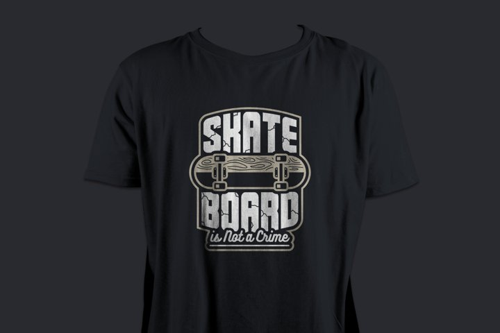 Skate Board is Not a Crime | Vector T-shirt Design