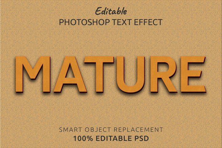 Mature Editable Photoshop Text Style Effect