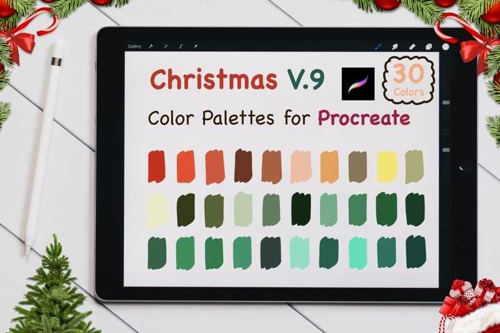 Color Palettes set for Procreate - Christmas V.9