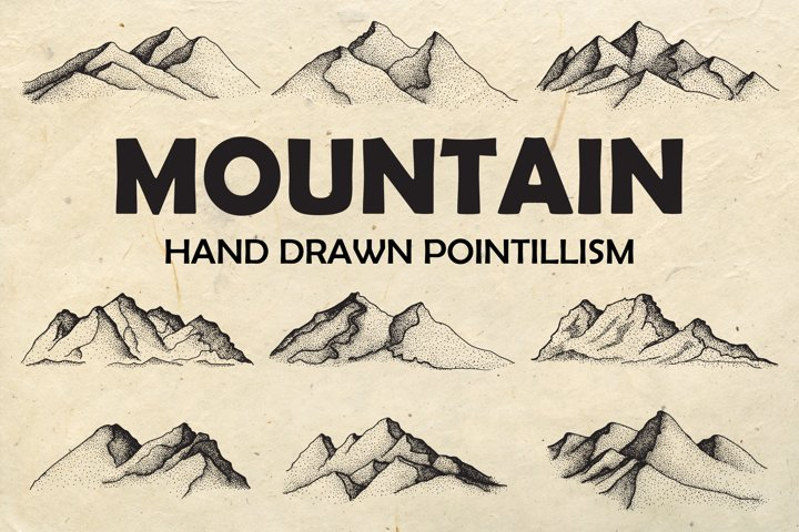 Hand Drawn Mountain Illustration