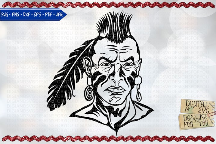American Warrior | Native American | Indian | Warrior svg