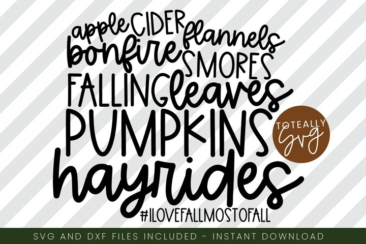 I Love Fall Most Of All. Fall SVG. Pumpkin