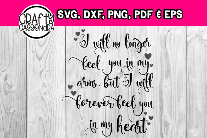 Memorial - Loss of a loved one - Condolence file - svg quote