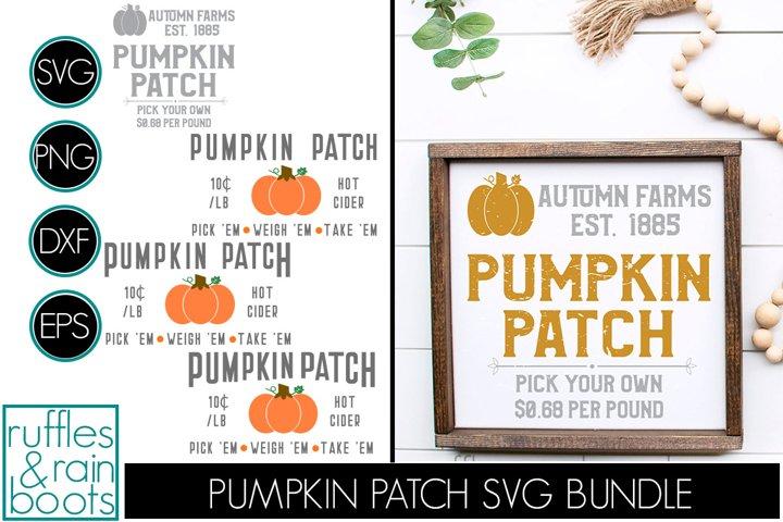 Pumpkin Patch Sign SVG Bundle Perfect for Fall Decor