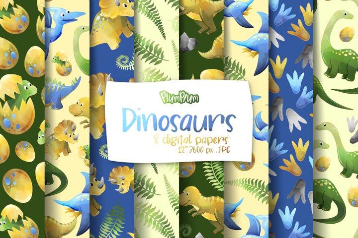 Dinosaurs Digital Papers