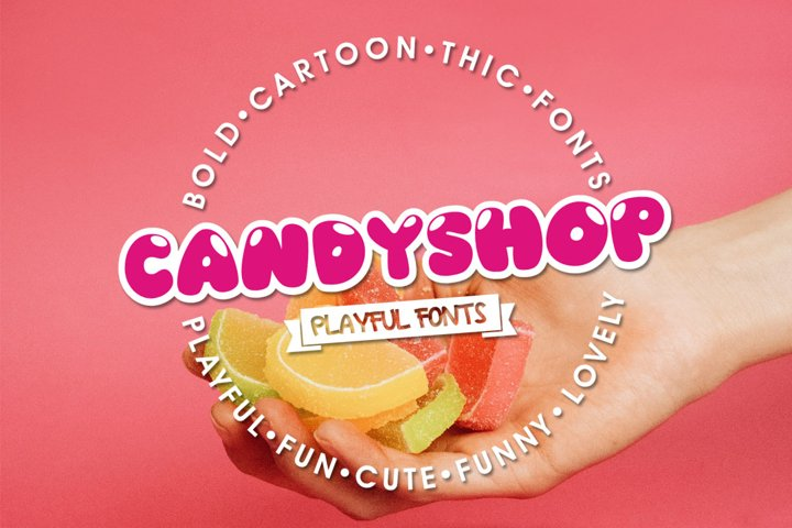 Candyshop - Playful Fonts