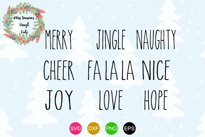 Christmas Ornament Words SVG - Christmas