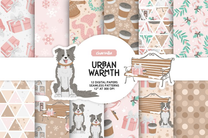 Pink Winter Digital Papers