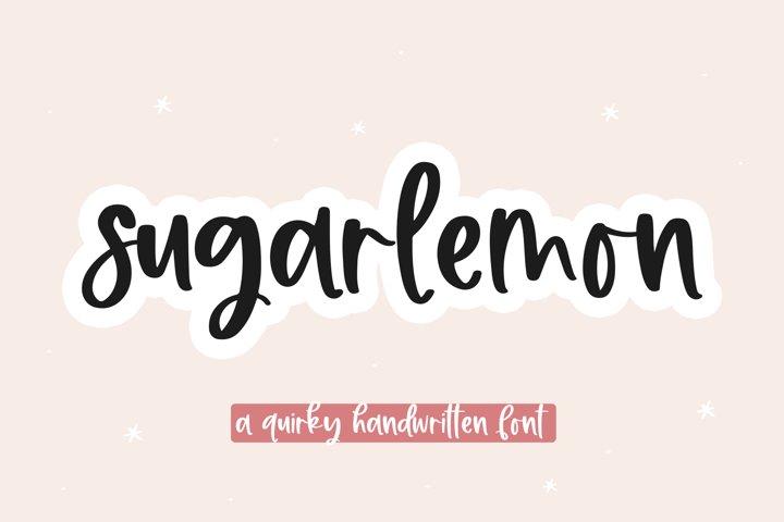 Sugar Lemon - A Handwritten Script Font