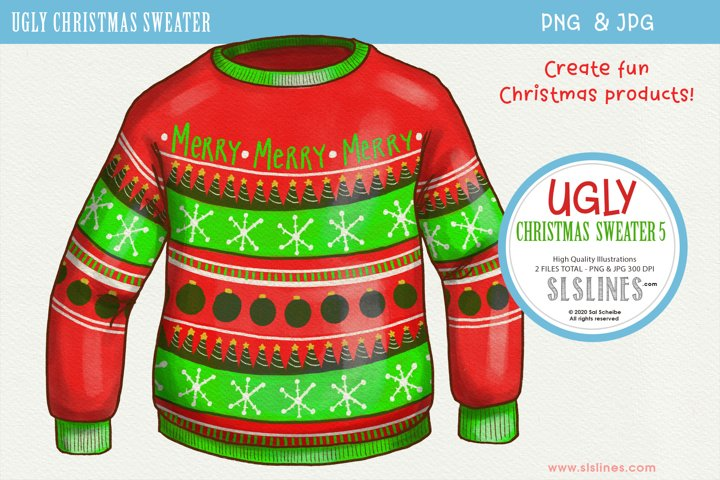 Ugly Christmas Sweater 5 Sublimation PNG