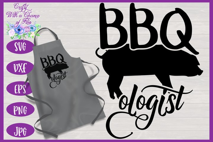BBQologist with Pig SVG | Fathers Day BBQ Grill Apron