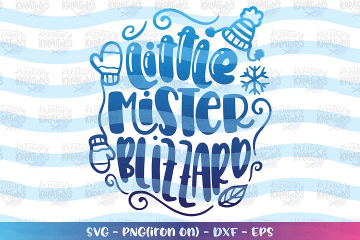 Christmas svg Little mister Blizzard winter season baby kids