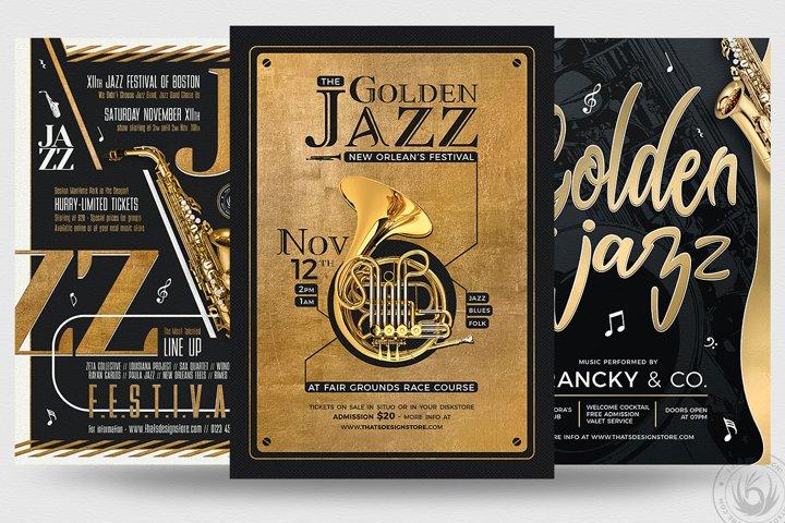 Golden Jazz Flyer Bundle