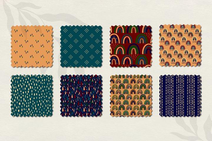Modern Bohemian patterns. Boho pattern collection example 2