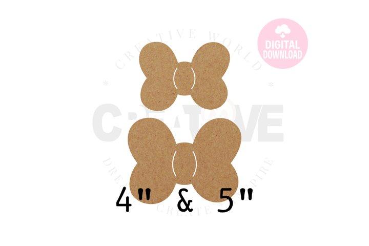 2 Templates Bow Hair Bow Display Card | BDC034