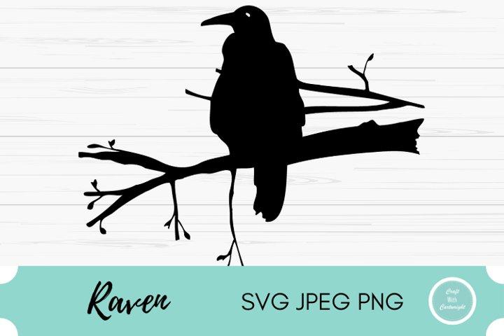 Raven Halloween cut file