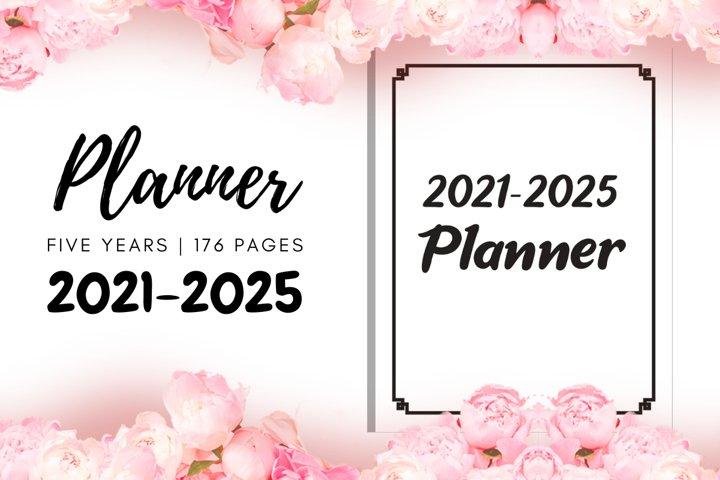 2021 2025 Five Years Planner | Monthly Organizer | KDP