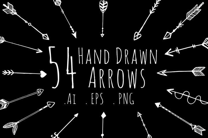 Hand drawn arrows,clipart