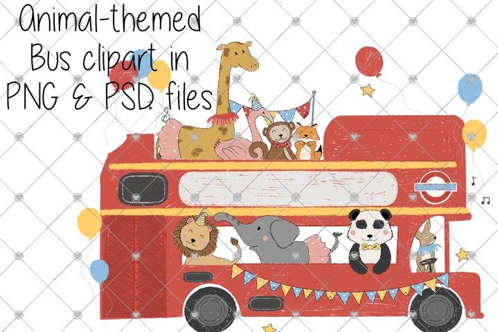 Bus, Clipart, Animal, Cartoon Clipart, Nursery, London, Boys