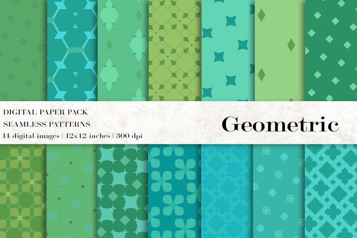 Geometric Digital Papers, Geometric Patterns