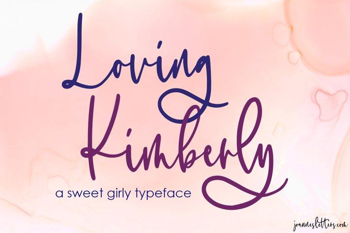 Loving Kimberly | A sweet girly script